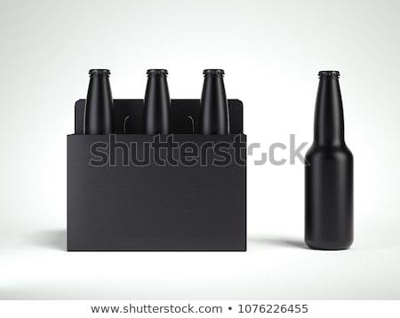 Foto stock: 3D · caixas · pessoas · brancas · quatro · isolado
