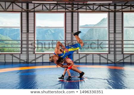Twee mannelijke witte sport sport Stockfoto © nickp37