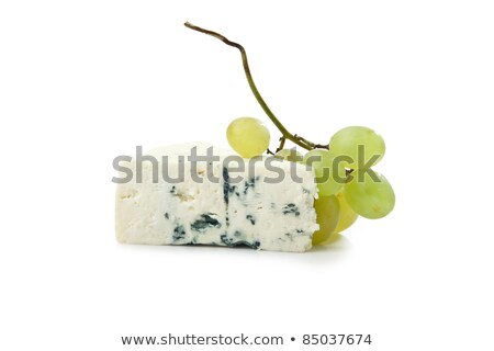 tasty cheese and grape isolated on white Stock photo © tetkoren