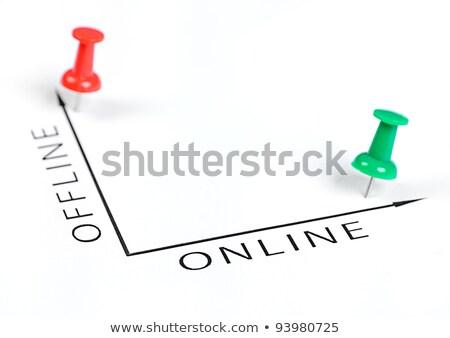 siker · diagram · zöld · tő · üzlet · boldog - stock fotó © fuzzbones0