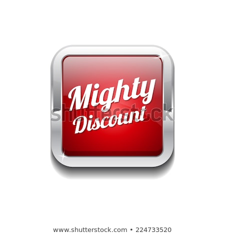 mighty discount red vector icon button stock photo © rizwanali3d