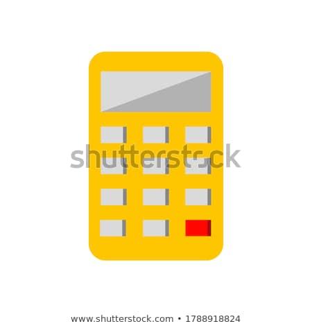 Calculator Yellow Vector Icon Design Stock photo © rizwanali3d