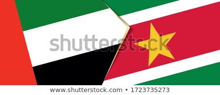 Объединенные Арабские Эмираты Суринам флагами головоломки изолированный белый Сток-фото © Istanbul2009