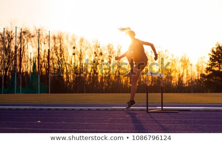 Hurdles Girl Stock photo © lenm