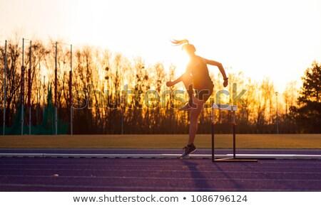 Hurdles Girl Stock photo © lenm