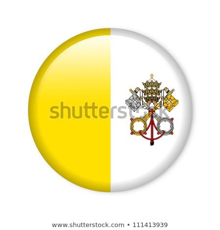 квадратный Pin флаг Ватикан изолированный белый Сток-фото © MikhailMishchenko