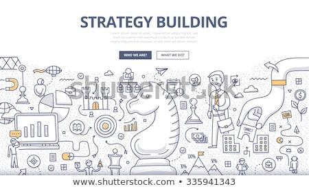 Negócio sucesso estratégia de marketing rabisco projeto estilo Foto stock © DavidArts