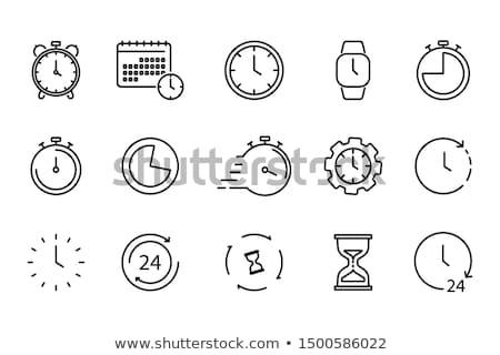 Temporizador reloj vidrio ver acero símbolo Foto stock © ayaxmr