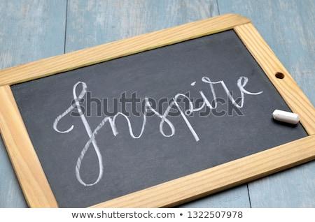 inspirować · ktoś · dzisiaj · pismo · serwetka - zdjęcia stock © tashatuvango