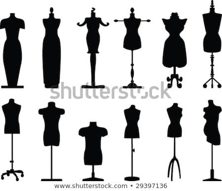 иллюстрация платье тело ткань ретро одежды Сток-фото © gigi_linquiet
