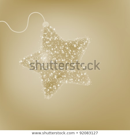 Postcard with a twinkling elegant star. EPS 8 Stock photo © beholdereye