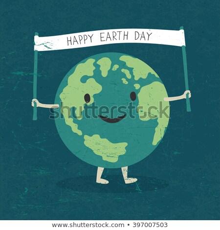 mutlu · sözler · gezegen · dünya · gezegeni · yaprak - stok fotoğraf © pashabo