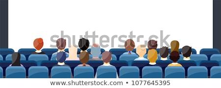 Mozi előcsarnok terv kék részletes film Stock fotó © Genestro