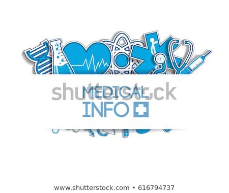 Hospital stickers Stock photo © sahua