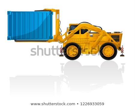 Yellow forklift truck Stock photo © RAStudio