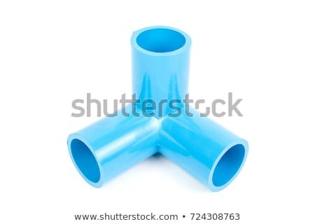 industrial · tubería · válvula · aislado · blanco · 3d - foto stock © elnur