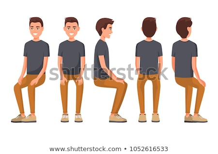 A man sitting down Stock photo © bluering