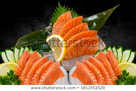 свежие · сашими · фотография · Японский · традиционный · блюд - Сток-фото © dmitroza