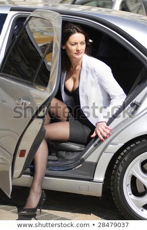 mujer · de · negocios · prima · coche · abajo · negocios - foto stock © ssuaphoto