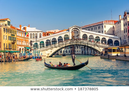 Gondola near Rialto Bridge in Venice Stock photo © artjazz