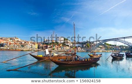 oude · schip · rivier · haven · hemel · water - stockfoto © neirfy