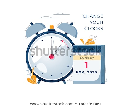 Daglicht besparing tijd klok schakelaar winter Stockfoto © Oakozhan