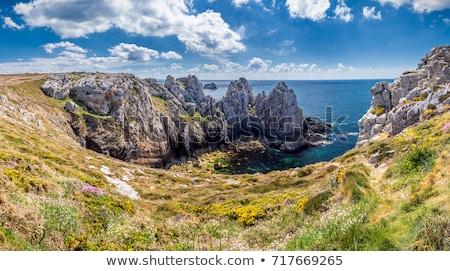 Península cenário paisagem montanha pedra Foto stock © prill