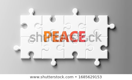 Puzzle with word Peace Stock photo © fuzzbones0