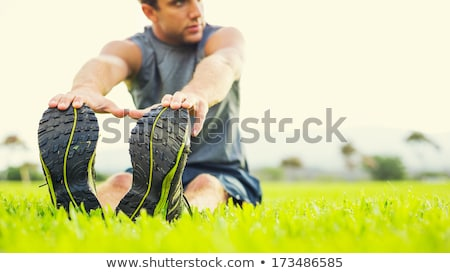 Mature Man Warming Up And Stretching Stock photo © Jasminko