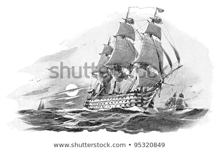 古代 船 大砲 白 孤立した 木材 ストックフォト © OleksandrO