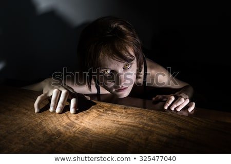 ゾンビ 女性 肖像 血まみれの 化粧 ストックフォト © BigKnell