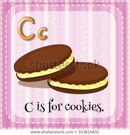 Letra c bolinhos ilustração comida crianças criança Foto stock © bluering
