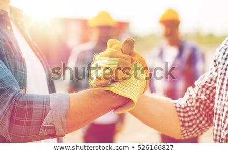 строительство · рабочие · работу · работник · силуэта - Сток-фото © 5xinc