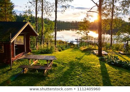 Visitar sauna pacífico mulher prazer Foto stock © pressmaster