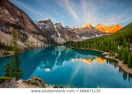 Reflections on a British Columbia lake Stock photo © pictureguy