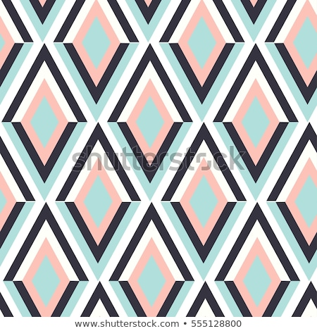Abstract geometric figure with rhombus, square Stock photo © Vanzyst