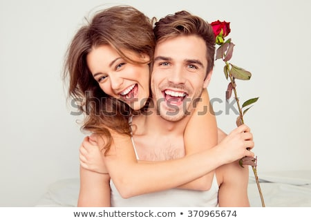 Stock photo: portrait of a beauty couple