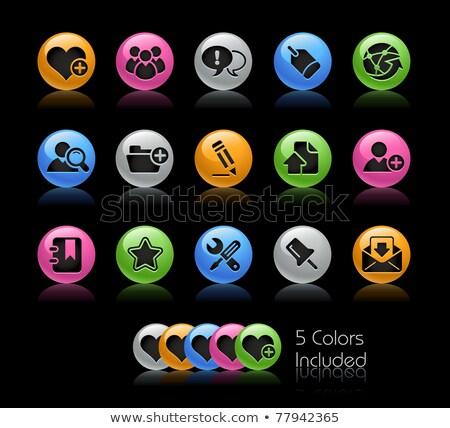 Foto stock: Herramientas · iconos · vector · archivo · color · icono
