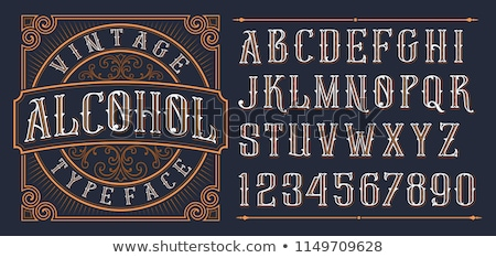 vintage alphabet vector font old style typeface stock photo © andrei_