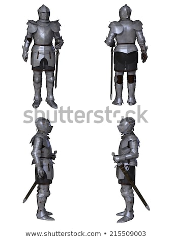 medieval knight sword and helmet 3d illustration isolated Stock photo © tussik