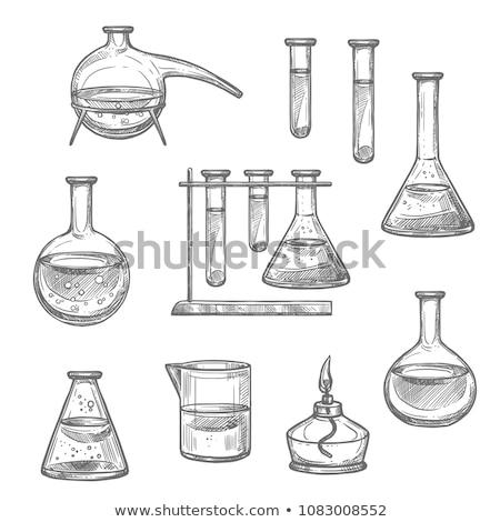test tubes sketch icon stock photo © rastudio
