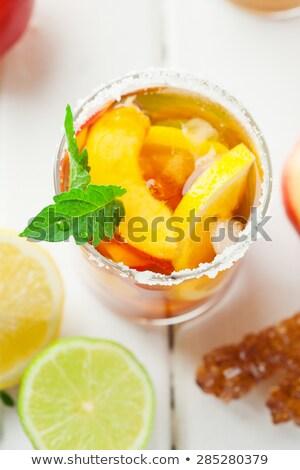 fraîches · feuille · verte · isolé · blanche · alimentaire · feuille - photo stock © yatsenko