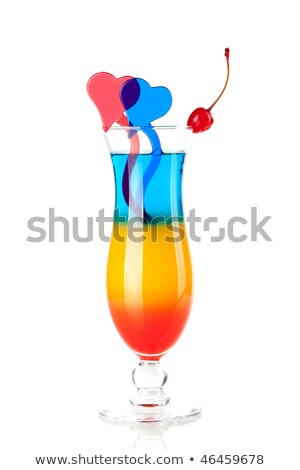 Cocktail collection - Three layered tropical cocktail stock photo © FOTOART-MD