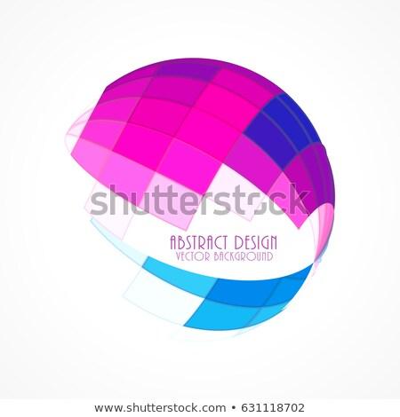 rosa · azulejo · mosaico · brillante · resumen · diseno - foto stock © sarts