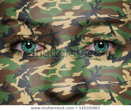 狙撃兵 女性 黒のドレス ライフル 赤 少女 ストックフォト © PetrMalyshev