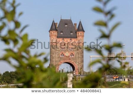 saat · kule · kapı · ünlü · gökyüzü - stok fotoğraf © meinzahn