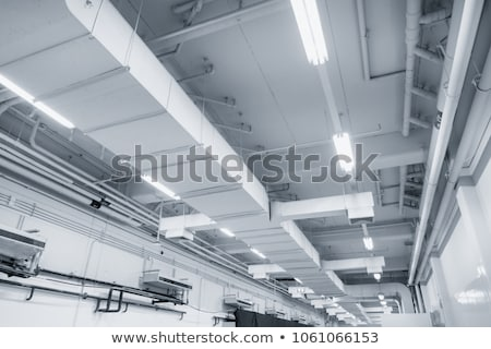 industrial warehouse air ventilation system pipe stock photo © stevanovicigor
