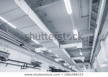Industriële magazijn lucht ventilatie pijp plafond Stockfoto © stevanovicigor