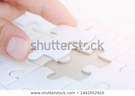 Margin - Puzzle on the Place of Missing Pieces. Stock photo © tashatuvango