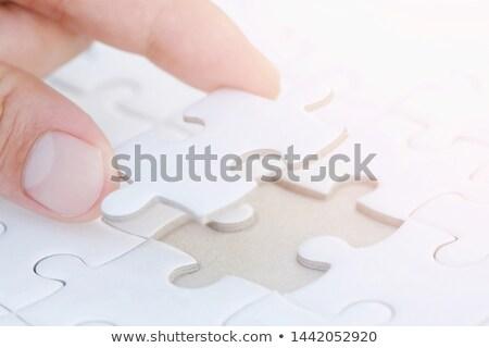 doador · quebra-cabeça · lugar · desaparecido · peças · texto - foto stock © tashatuvango